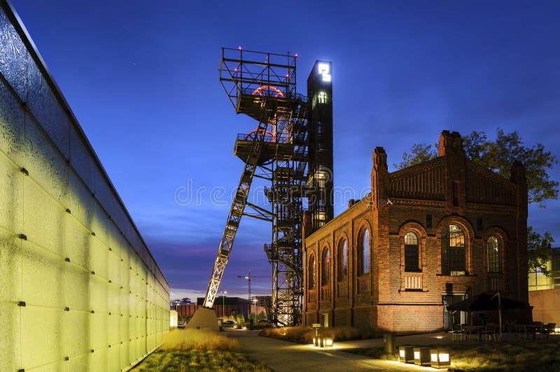 De vroegere kolenmijn stock fotografie