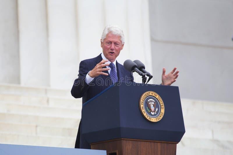 De vroegere V.S. voorzitter Bill Clinton stock foto's