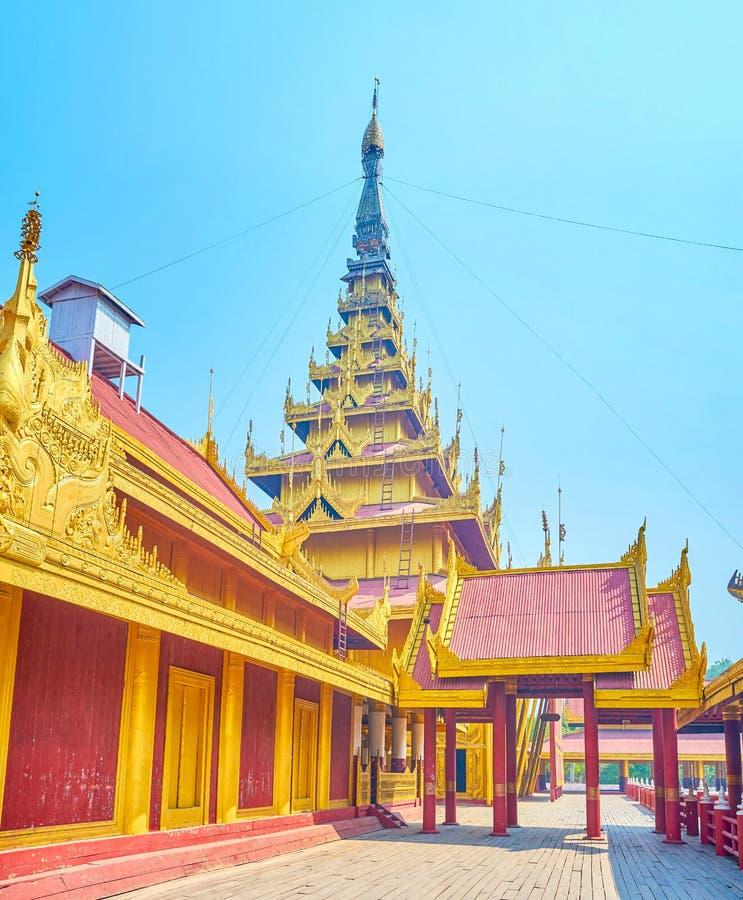 De vroegere woonplaats van Birmaanse monarchie, Mandalay, Myanmar stock fotografie
