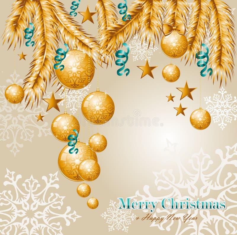 De vrolijke achtergrond EPS10 vectorf van Kerstmiselementen royalty-vrije illustratie