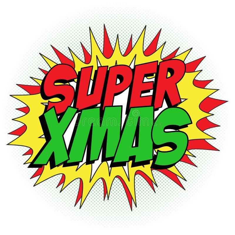 De vrolijke Achtergrond van de Kerstmis Super Held vector illustratie