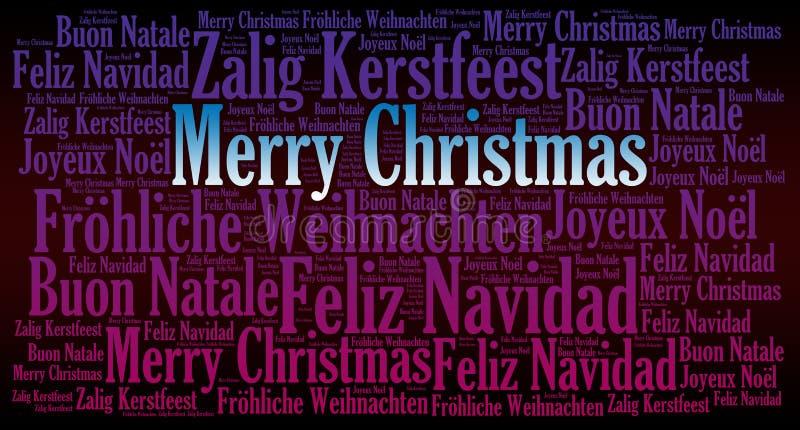De vrolijke achtergrond van de Kerstmisvakantie vector illustratie