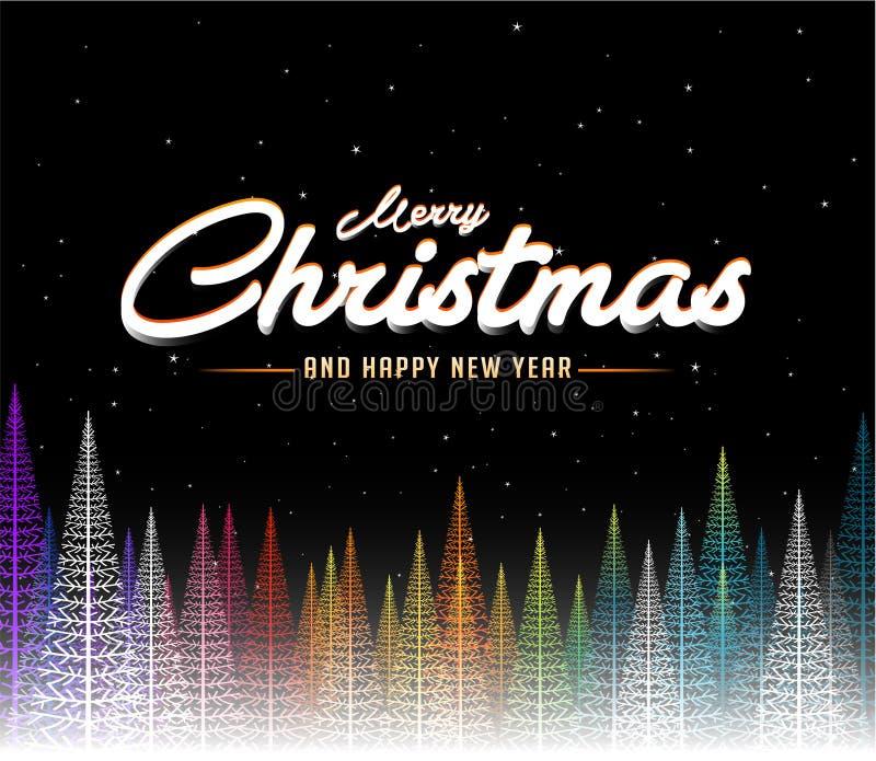De vrolijke achtergrond van de Kerstmis abstracte kleurrijke boom vector illustratie