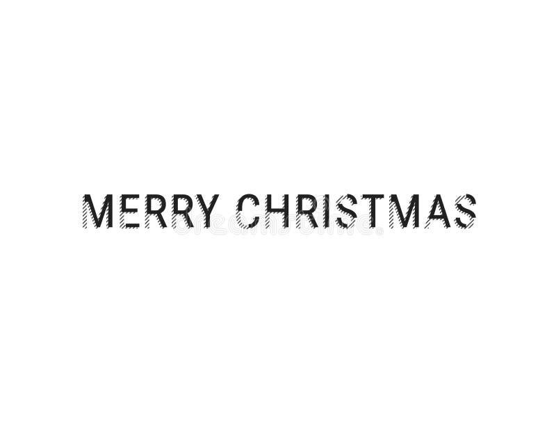 De vrolijke Banner of de Kopbal van de Kerstmis Modieuze Premie Modern Verminderd Typografieconcept Web klaar aandelen Geïsoleerd royalty-vrije illustratie