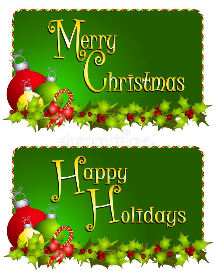 De vrolijke Banners van Kerstmis stock illustratie