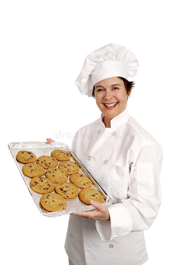De vrolijke Chef-kok van de Bakkerij stock afbeelding