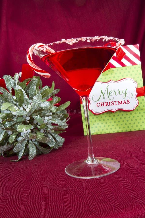 De vrolijke Cocktail van Kerstmis royalty-vrije stock foto's