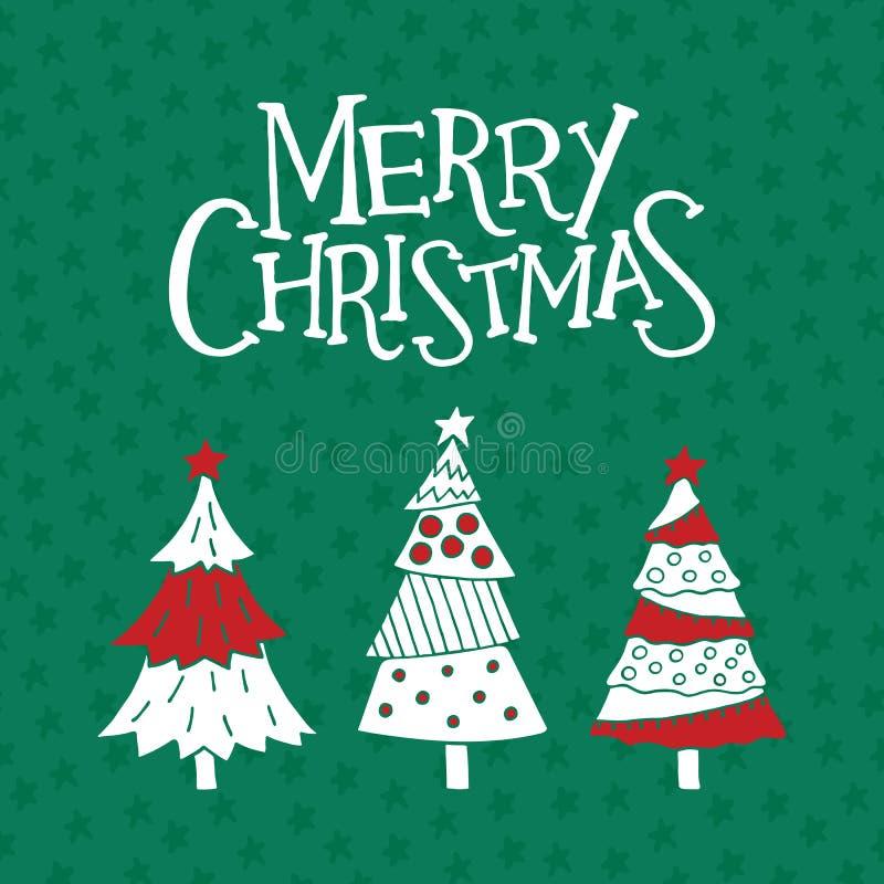 De vrolijke kaart van de Kerstmisgroet, affiche en banner vector illustratie