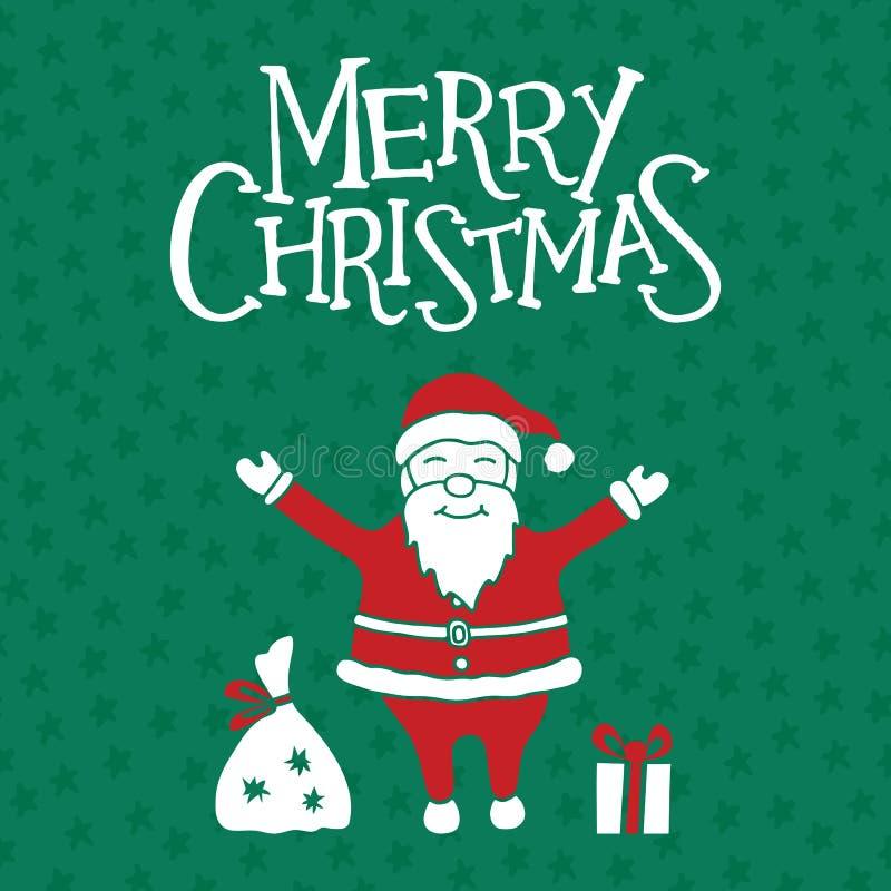 De vrolijke kaart van de Kerstmisgroet, affiche en banner royalty-vrije illustratie