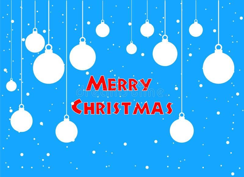 De vrolijke kaart van de Kerstmisgroet en gelukkig nieuw jaar vectorbeeld vector illustratie