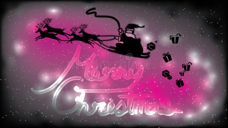 De vrolijke Kerstmisachtergrond, iedereen is vandaag gelukkig royalty-vrije illustratie