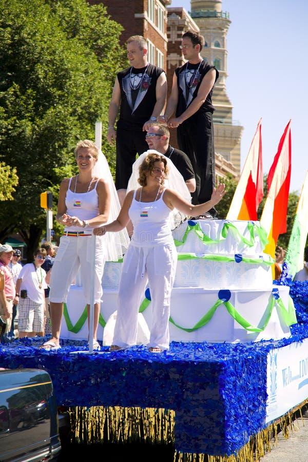 De vrolijke Parade van de Trots stock afbeelding