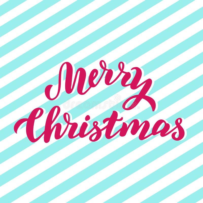 De vrolijke prentbriefkaar van de Kerstmisvakantie Met de hand geschreven van letters voorziende tekst Kerstmiscitaat, verpakking royalty-vrije illustratie