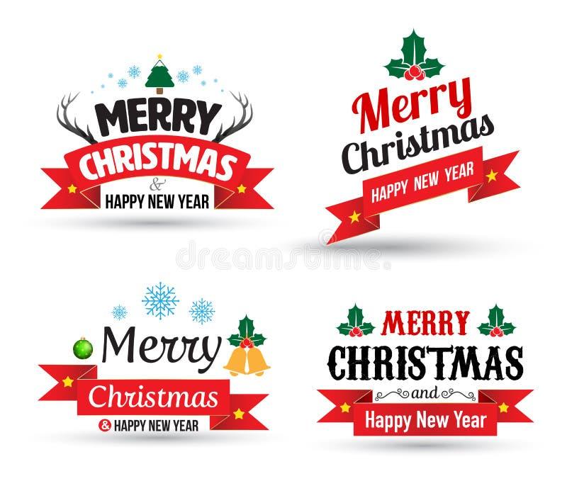 De vrolijke reeks van het de Kaartelement van de Kerstmisgroet