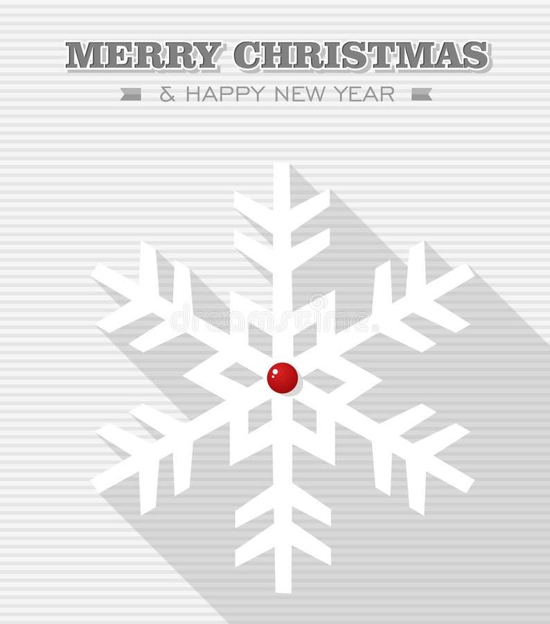 De vrolijke sneeuwvlok van de Kerstmis rode punt. royalty-vrije illustratie