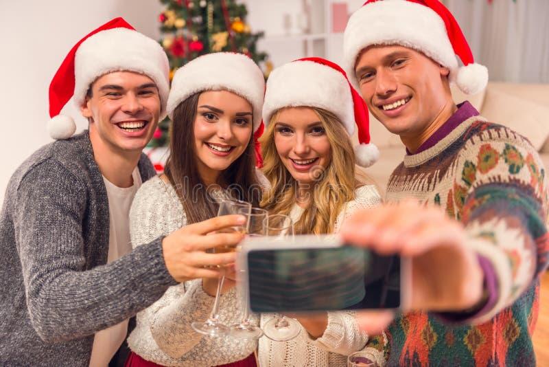 De vrolijke viering van Kerstmis stock fotografie