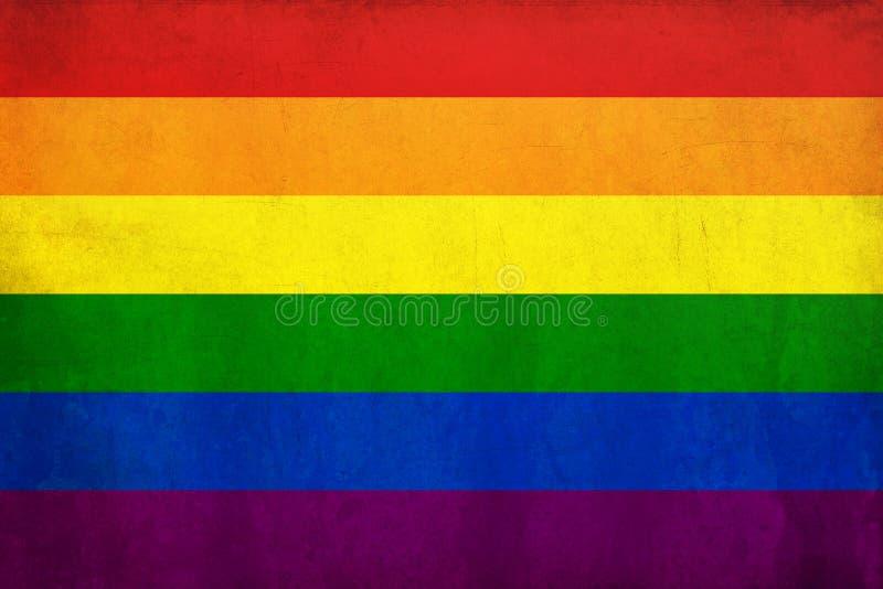 De vrolijke vlag van de regenboog stock illustratie
