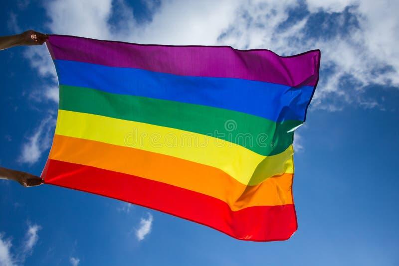 De vrolijke vlag van LGBT stock afbeeldingen