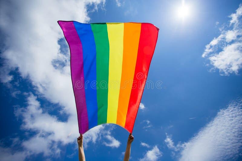 De vrolijke vlag van LGBT royalty-vrije stock foto