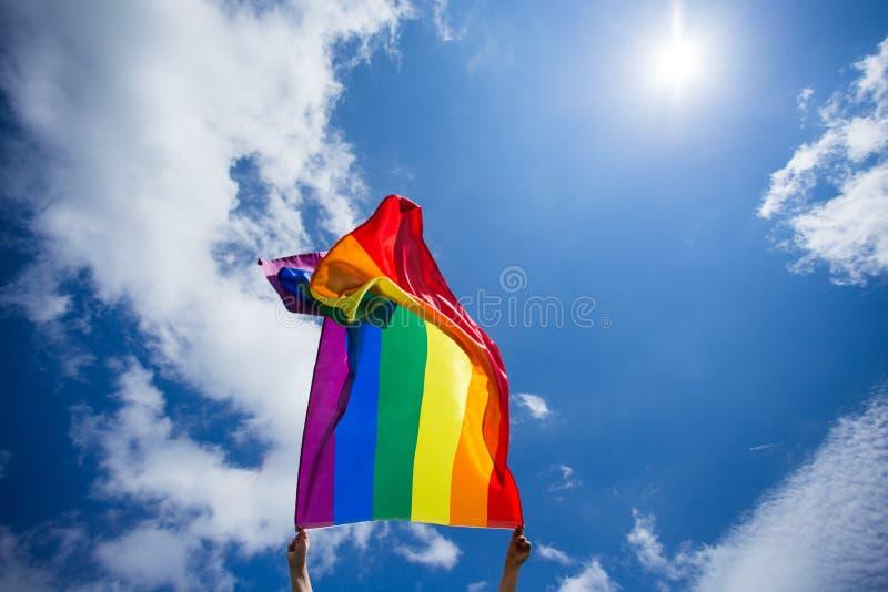 De vrolijke vlag van LGBT royalty-vrije stock foto's