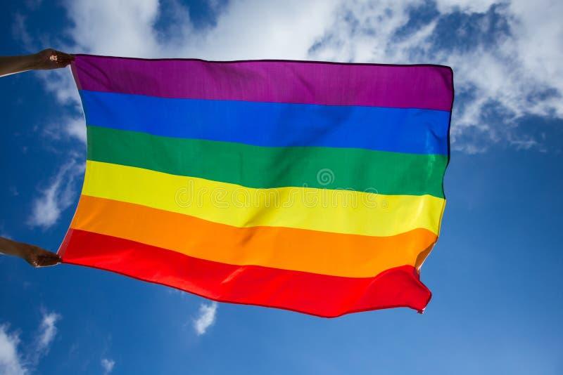 De vrolijke vlag van LGBT royalty-vrije stock fotografie