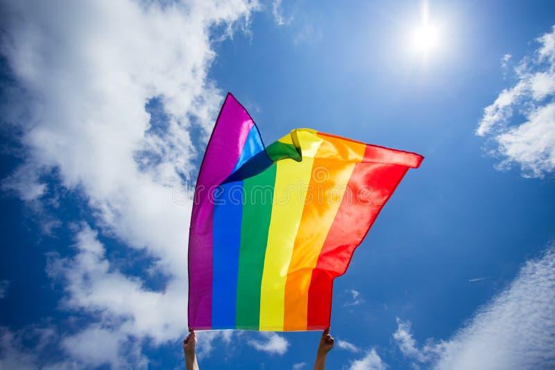 De vrolijke vlag van LGBT royalty-vrije stock afbeelding