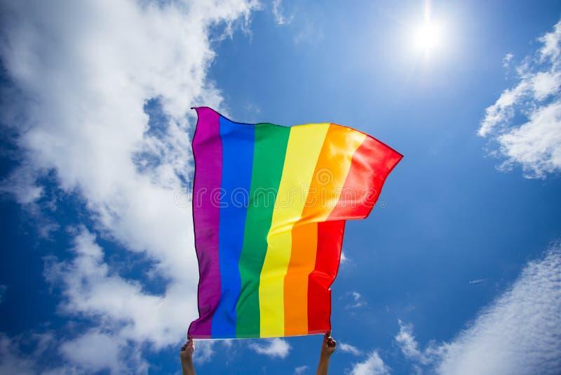De vrolijke vlag van LGBT stock foto