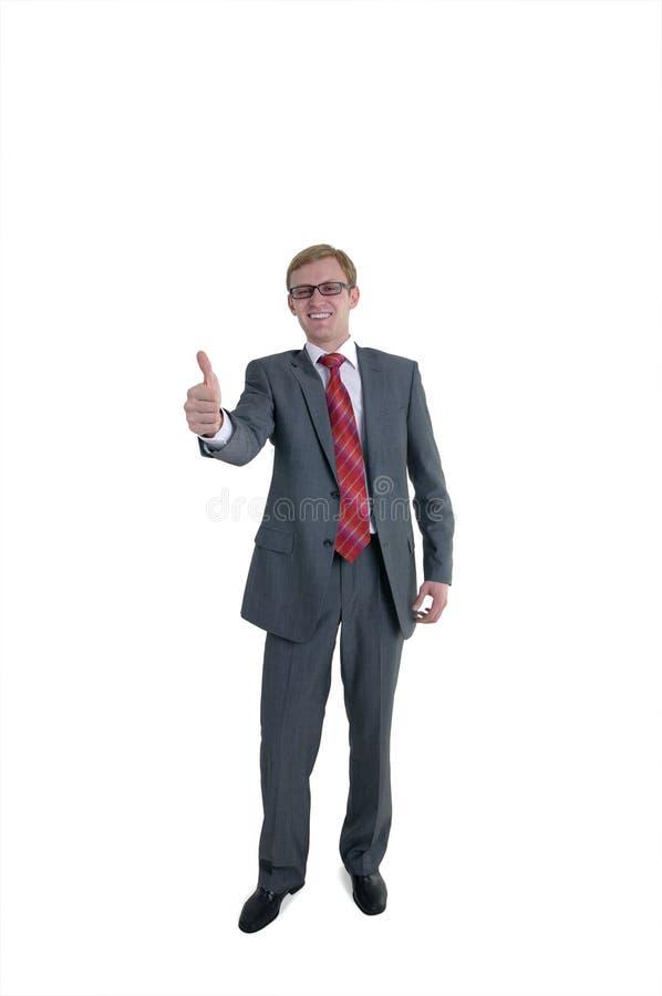 De vrolijke zakenman stock afbeeldingen