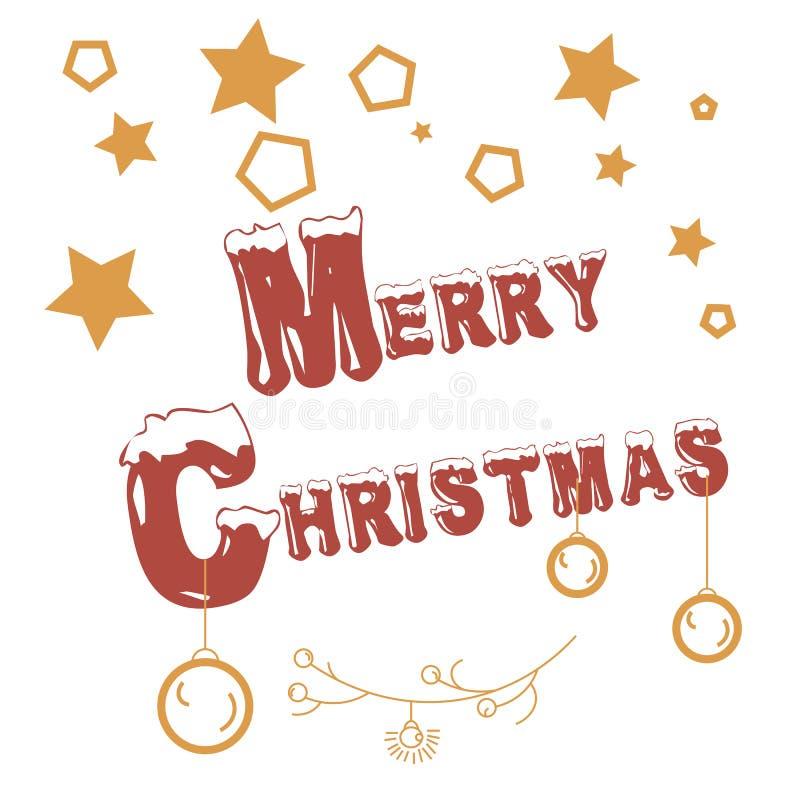 De vrolijke zegel van Kerstmis vector illustratie