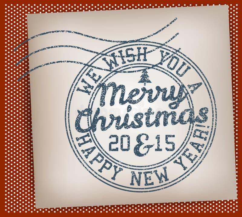 De vrolijke zegel van Kerstmis stock illustratie