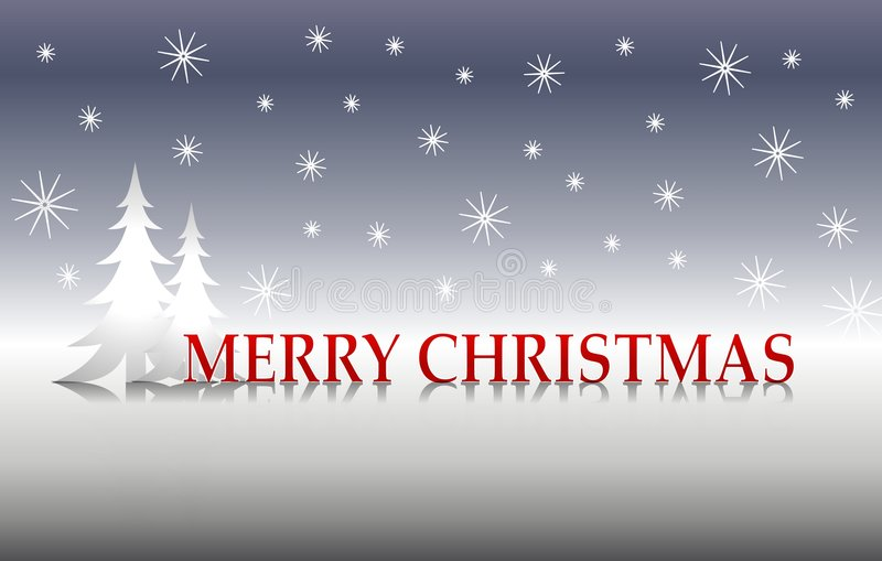 De vrolijke Zilveren Bomen van Kerstmis