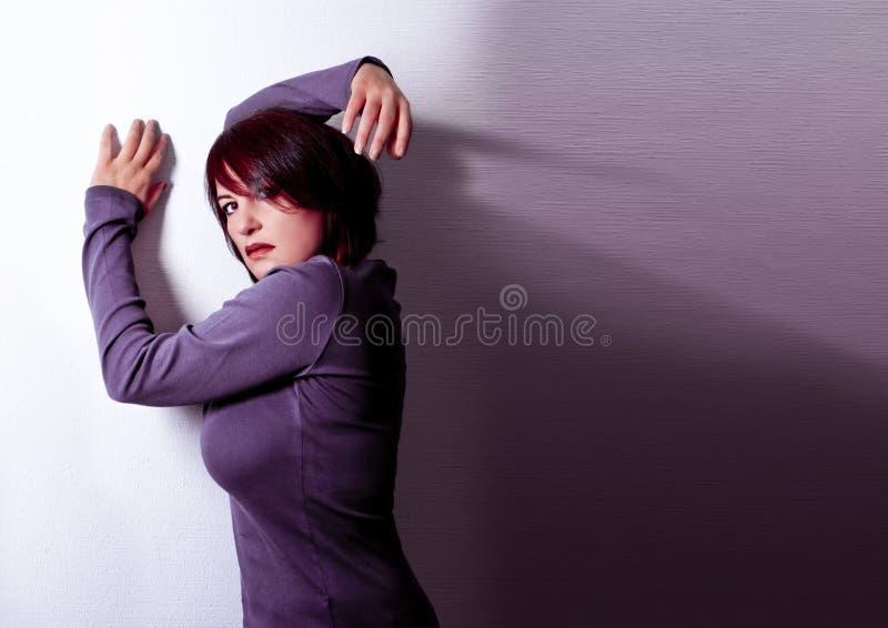 De vrouw stock foto