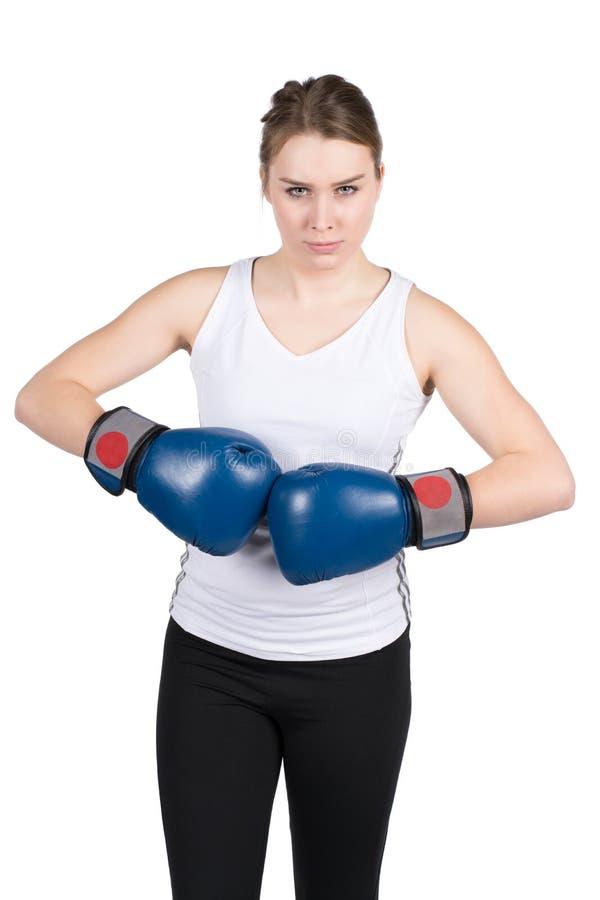Download De Vrouw Houdt Tegen Elkaar Bokshandschoenen Stock Foto - Afbeelding bestaande uit geschiktheid, sportswoman: 39109978