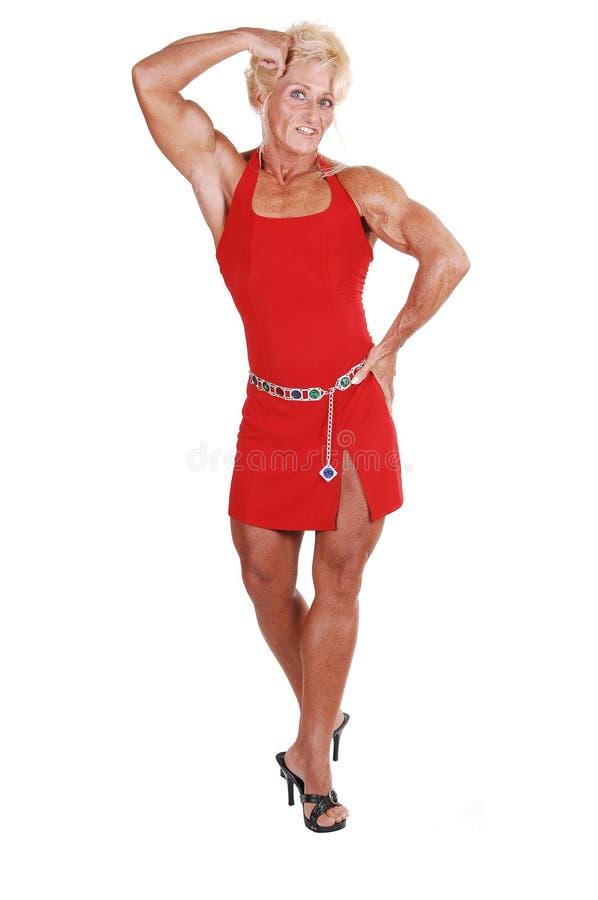 De vrouw van Bodybuilding. stock foto
