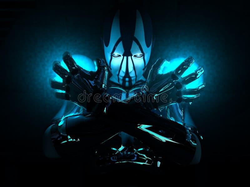 De vrouw van Cyborg vector illustratie