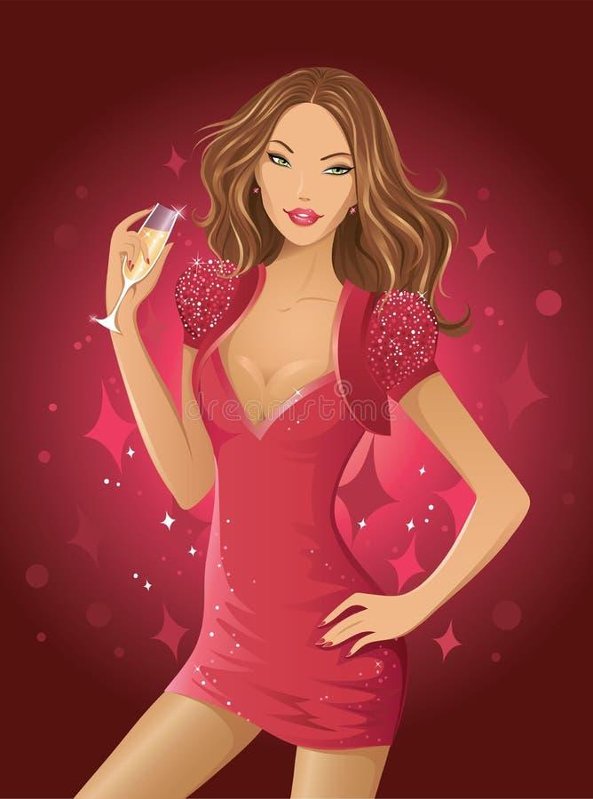 De vrouw van de aantrekkingskracht royalty-vrije illustratie