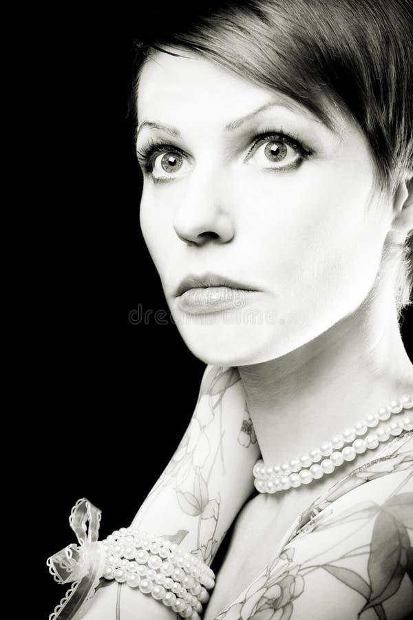 De vrouw van de aantrekkingskracht royalty-vrije stock foto's