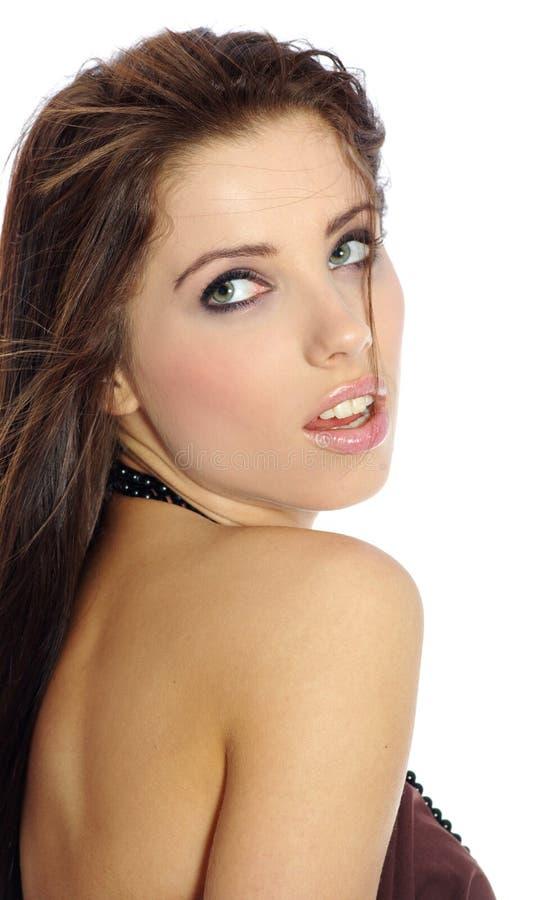 De vrouw van de aantrekkingskracht. schoonheid. stock foto's