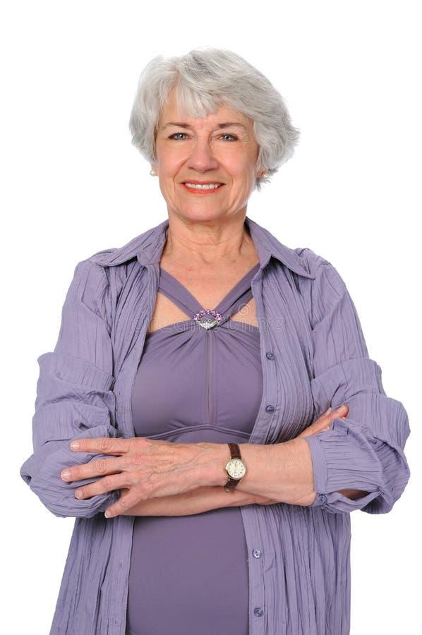 De Vrouw van de bejaarde stock foto's