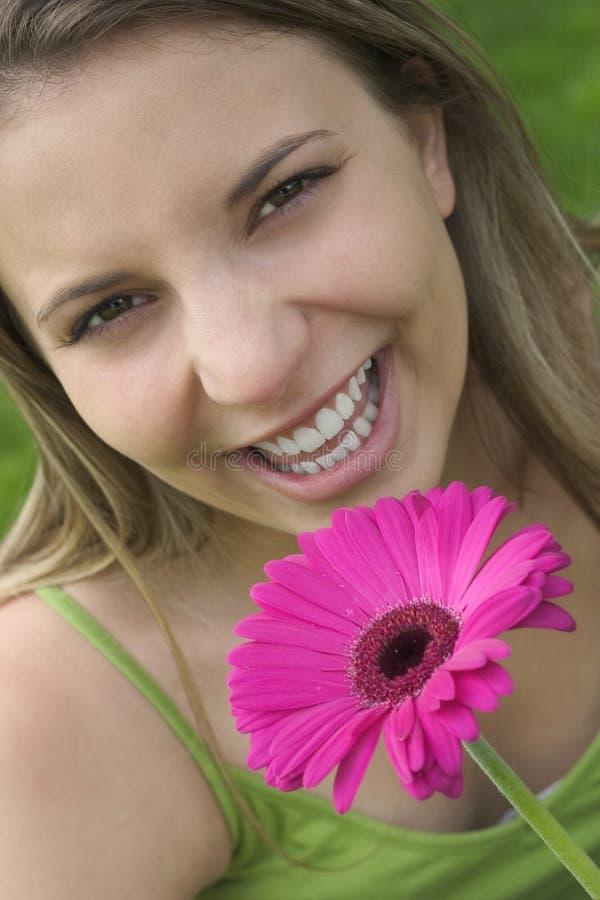 De Vrouw van de bloem royalty-vrije stock afbeeldingen