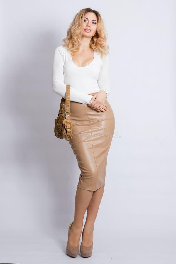De Vrouw van de Blonde van de manier stock foto