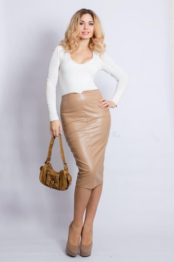 De Vrouw van de Blonde van de manier stock afbeelding