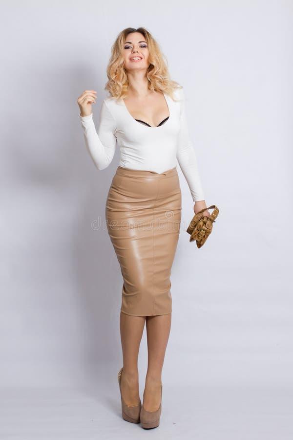 De Vrouw van de Blonde van de manier royalty-vrije stock foto's