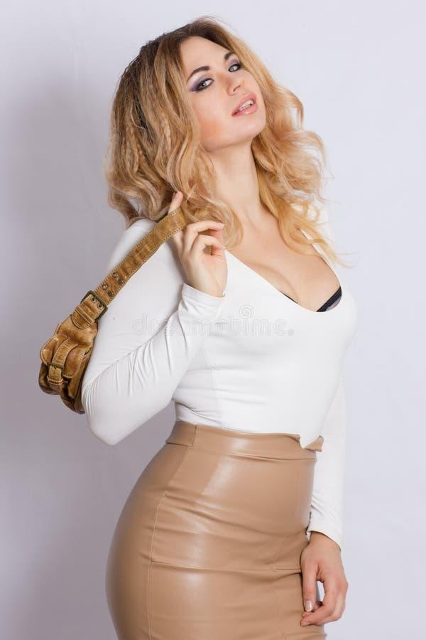 De Vrouw van de Blonde van de manier stock fotografie
