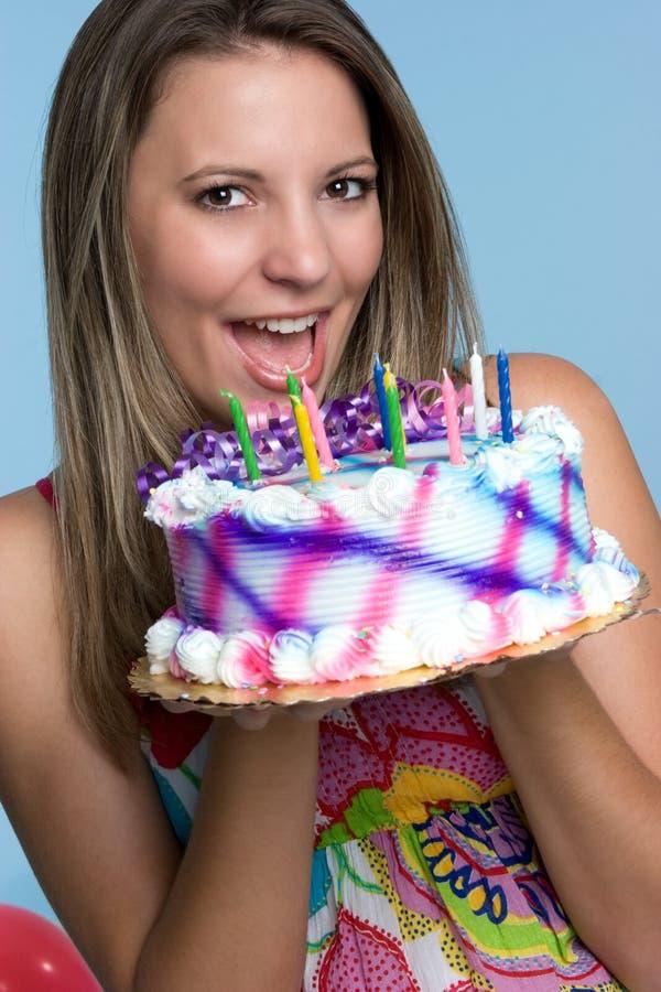 De Vrouw van de cake royalty-vrije stock fotografie