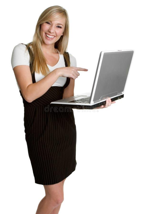 De Vrouw van de computer royalty-vrije stock afbeeldingen