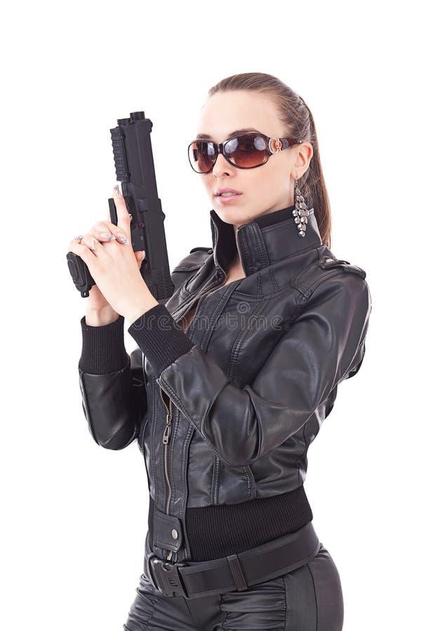 De vrouw van de detective royalty-vrije stock fotografie
