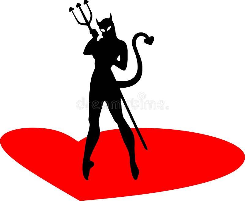 De vrouw van de duivel royalty-vrije illustratie