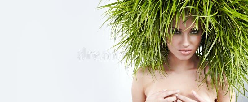 De vrouw van de ecologie, groen concept royalty-vrije stock foto