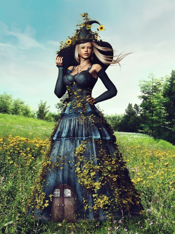De vrouw van de fantasielente stock illustratie